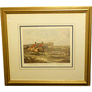"Vintage British  ""Bachelors Hall"" Fox Hunting Print, by Internationally Acclaimed Artist Francis Turner, 1800's"