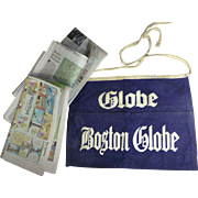 50 Year Old Boston Globe Newspaper Boy Money Apron, Excellent Condition