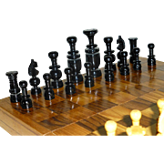 Vintage Chess Set, Classic Laquered Pices, Storage Type Chess Board, Immaculate condition