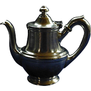 "Vintage Stolen Tea / Coffee Pot!  Silver Soldered, 1946,  Hotel Lafayette, San Diego, R. Wallace Silversmiths, ""TOP GUN"" Movie Set"