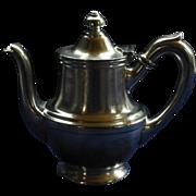 """Vintage Stolen Tea / Coffee Pot!  Silver Soldered, 1946,  Hotel Lafayette, San Diego, R. Wallace Silversmiths, """"TOP GUN"""" Movie Set"""