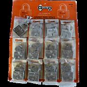 1960's Lock Display Board, Advertising Sales, Flawless Pristine Condition, Locksmith, Keys, Safe, Hardware Store