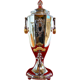 Art Deco Coffee Percolator Urn, 1920's, Bakelite.  Universal by Landers, Frary, & Clark, Superb Original Condition, New Britain CT