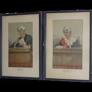Vanity Fair Vintage Litho, Spy Watercolor Print, 100 years Old, Men of the Day, Sir Arthur Jeff