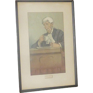 Vanity Fair 116 Year Old Litho Print, from Spy Painting, Men of the Day,