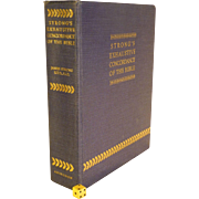"Famous, "" Strong's Exhaustive Concordance of the Bible "", Vintage, Over Half Century Old, Immaculate Condition, 12"" Tall"