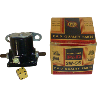 1940's, Ford NAA Tractor Starter Solonoid, Bakelite Relay, P&D Pee Dee Parts, NY