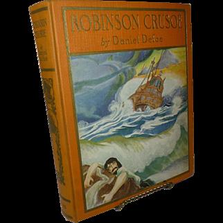 Robinson Crusoe, Daniel Dufoe, Classic Novel, 1st Edition 1926,  Immaculate Condition