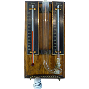 Vintage Hygrometer / Thermometer, 1920's, Rochester NY, Taylor Tycos Co