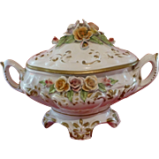 Magnificent Antique  Capodimonte Soup Tureen, Italian Porcelain, Turn of Century, Superb Condition, Hand Painted