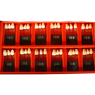 Vintage Artificial Teeth Display, Dentist's Sample,