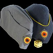 1960's German Military Caps, Hats. Original Manufacturer's Tags, Militaria