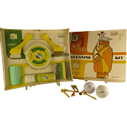 Vintage 19th Hole Golf Club Cleaning Kit, Early 1980's, Gift to Old Golfers, Original Sealed Kit
