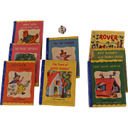 Miniature 1949 Tom Thumb Books & a Rover Book, Rand McNally, Set of 8, Nice Condition
