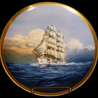 """US Coast Guard Cutter """" Eagle """", Originally 1936 Germany, Gold Leaf, Hamilton Plate, Sea, Ocean, Sailing"""