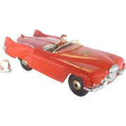 BIG 1950 's Marx Friction Toy, Rocket - Like  Race Car, Sabre Concept Car, Roadster, Space Motif,
