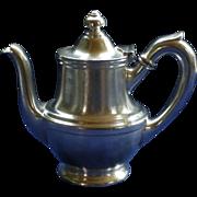 Stolen Tea Coffee Pot, 1946, Hotel Lafayette, San Diego CA, R.Wallace Silversmiths, Silver Soldered, Top Gun Movie Set