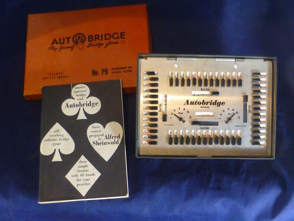 1959 autobridge card game deluxe pocket model toy 48 for Charity motors bridge card