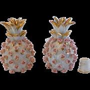 Porcelain Perfume Bottle Set by Lefton, Pineapple, Early Japan,