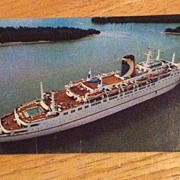 Mardi Gras ship The Golden Fleet Carnival Cruise Lines Postcard
