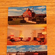 Postcard The Flamingo Motel, Victoria, Texas