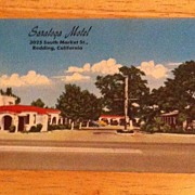 Postcard Saratoga Motel, Redding, Calif.