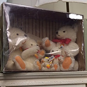 Steiff Bear Set of 5 from 1982 Collector's Edition