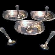 Vintage Sterling Salt Cellars and spoons