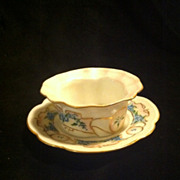 Altrohlau Austria Handpainted Bowl and Saucer