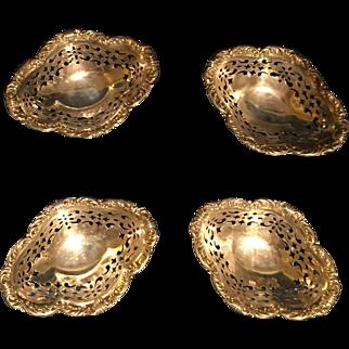 Galt & Bros. Sterling Nut Dishes - Set of 4