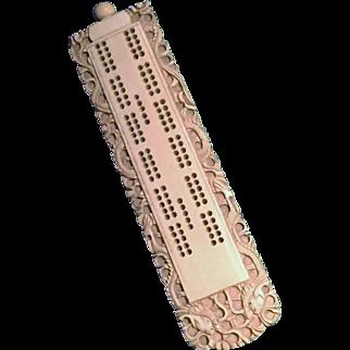 Carved Bone Cribbage Board