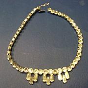 Stunning Large Rhinestones Eisenberg Choker Necklace