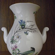 Rare Caverswall Country Diary Titmouse Vase