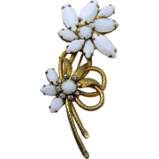LAST CHANCE - DeLizza and Elster/ Juliana White Navette Flower Pin