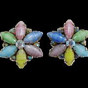 Weiss Multi-Colored Pastel Navette Earrings