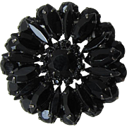 DeLizza and Elster Juliana Sparkling Black Navette Brooch