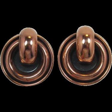 Renoir Copper Doorknocker Style Earrings