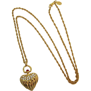 Joan Rivers Renaissance Style Heart Pendant Necklace - Book Piece