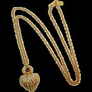 Joan Rivers Renaissance Style Heart Pendant Necklace - Book Piece