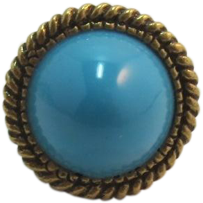 1960's Dramatic High Domed Faux Turquoise Woman's Ring