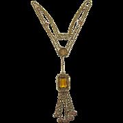 Goldette Victorian Revival Festoon Necklace