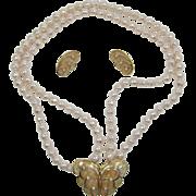 """Kenneth J. Lane KJL for Avon """"Papillon"""" Butterfly Necklace and Earrings"""