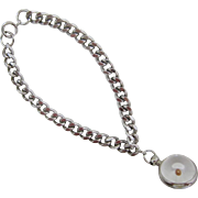Silver-tone Link Bracelet with Mustard Seed Charm
