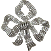 Monet Large Silver-tone Bow Pin - Book Piece