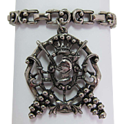 Medieval Knight in Armor Large Charm Bracelet
