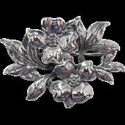 Gorgeous Guglielmo Cini Sterling Silver Flower Brooch