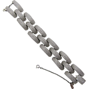 Bright Monet Textured Silver-tone Bracelet