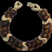 Napier Smoky Topaz Glass & Gold-tone Bracelet