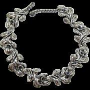 Napier Silver-Plated Oak Leaf Link Necklace