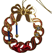 Avon 1994 Christmas Ornament and 3 Pairs of Earrings